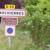 Panneau de signalisation pour l'entrÈe ‡ l'intÈrieur du parc naturel rÈgional Scarpe - Escaut, prÈsentant beaucoup de zones humides.