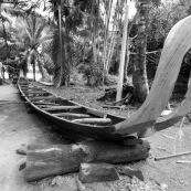 Fabrication d'une pirogue en Guyane entre France et Suriname sur le Maroni.