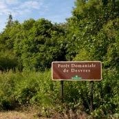 EntrÈe de la forÍt domaniale de Desvres, panneau de l'ONF.