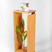 Mobilier design contemporain en bois massif de Guyane. Meuble. Marque DISSI. Support.