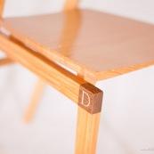 Mobilier design contemporain en bois massif de Guyane. Meuble. Marque DISSI. Chaise.