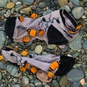 Papillons sur chaussettes sales.