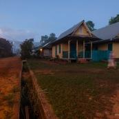 Arrivee au marais de kaw en Guyane.