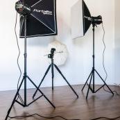 Flashs de studio pour la photographie.