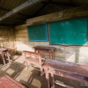 Ecole dans un village de campagne dans le parc national amboro en Bolivie. Traditionnelle.