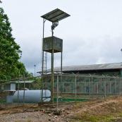 """Entrée du """"bloc 16"""" dans le parc national Yasuni"""