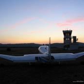 Club de planeur (vol a voile) de Vinon sur Verdon. Aerodrome. AVion remorqueur.