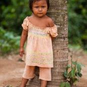 Portrait d'enfants amerindiens.