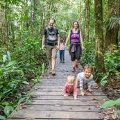 Sentier du bagne des Annamites. Montsinery Tonnegrande. Guyane en foret tropicale amazonienne. randonnee en famille. Avec enfants et bebes.
