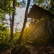 Saul au petit matin (lever du soleil) depuis le belvedere. Village au coeur de la Guyane, en foret tropicale amazonienne.  Parc amazonien de Guyane.