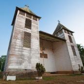 Eglise a Saul en Guyane. Village a l'interieur de la Guyane.  Eglise a deux clochers, classee.