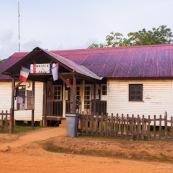 Mairie a Saul en Guyane. Village a l'interieur de la Guyane.