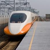 Train grande vitesse à Hong-Kong en Chine