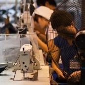 Usine de couture en Chine.
