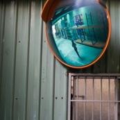 Miroir dans une usine en Chine.
