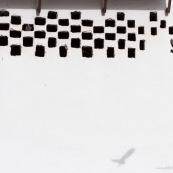 Espagne Andaousie. Facade avec pigeons.