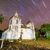 Eglise de Saül de nuit - Guyane Française
